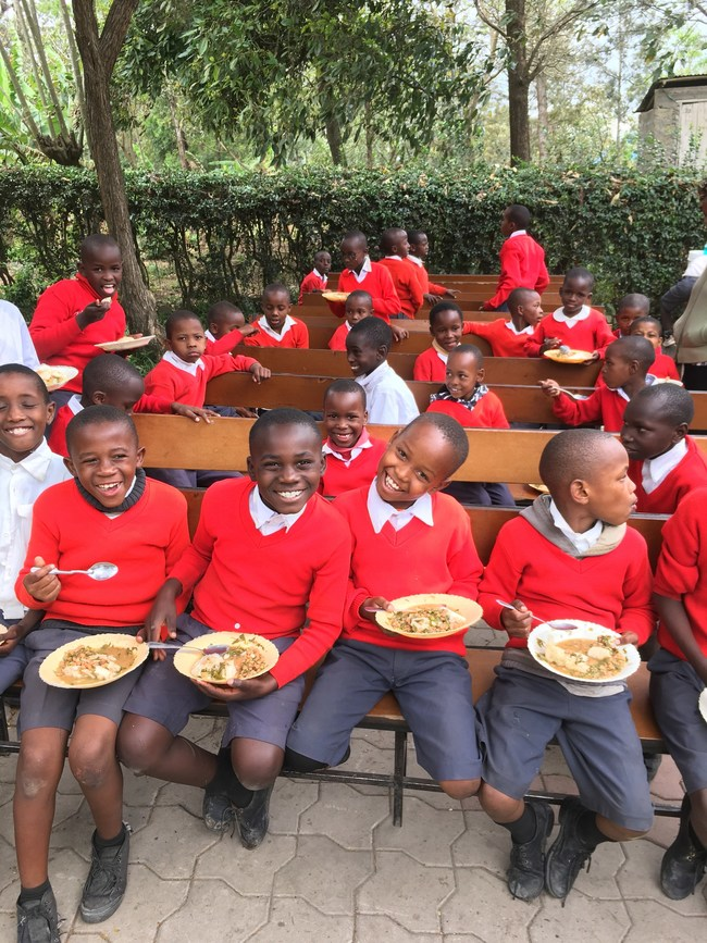 Children from Siha Leadership School in Tanzania, supported by Ubora.