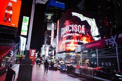 Francisca Restaurant anuncia en Times Square sus planes de expansión para 2021 (PRNewsfoto/Francisca Restaurant)