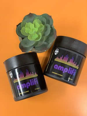 Vireo's new terpene enhanced dry flower cannabis line, Amplifi TM, packaged in the Company's TerpSafe TM packaging.