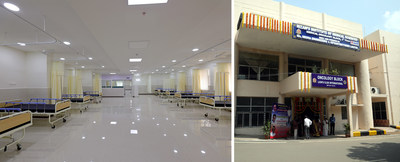 NIMS Oncology building with fully equipped modern amenities