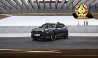 The CUPRA Formentor nominated as one of the seven finalists for prestigious Car of the Year 2021 award. (PRNewsfoto/CUPRA)
