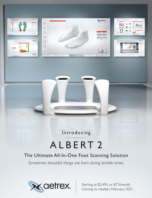 Albert 2 integrates today's leading technologies, such as Computer Vision, Machine Learning, AI-Powered Voice Assistance, and 3D Printing to create the most advanced foot scanner available.