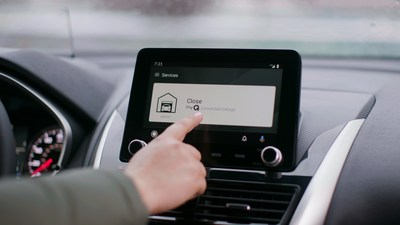 Select Mitsubishi Eclipse Cross drivers will be one of the first to experience in–dash access control through myQ Connected Garage.