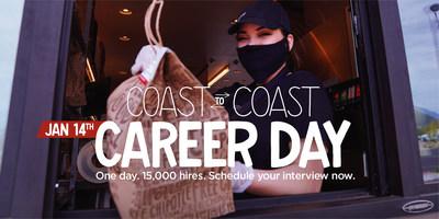 Chipotle's Coast to Coast Career Day on January 14th