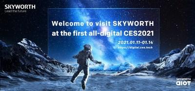 Visitez SKYWORTH lors de la première édition entièrement numérique du CES 2021 (PRNewsfoto/SKYWORTH TV)