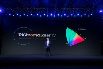 In 2021, as a leader in the laser display industry, Hisense will bring Laser TV into the TriChroma era!