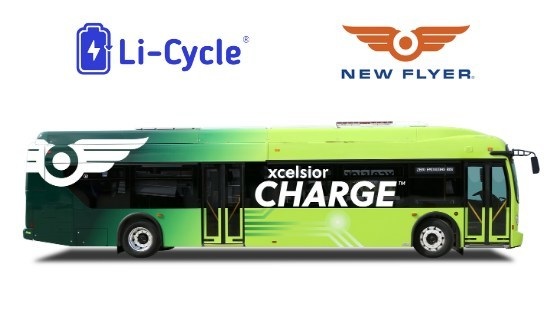 Li-Cycle and New Flyer complete battery recycling pilot together