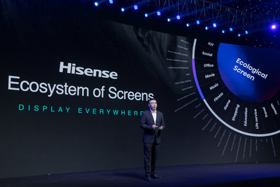 En 2021, Hisense se enfocará en las competencias centrales de calidad de imagen y aplicaciones, y lanzará los nuevos televisores ULED de alta frecuencia de refresco y rango dinámico, y los nuevos televisores láser TriChroma. (PRNewsfoto/Hisense)