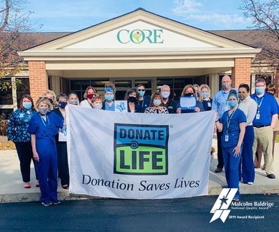 For second consecutive year, the Center for Organ Recovery & Education breaks organ donation record.