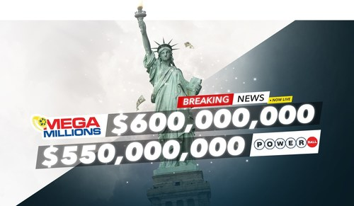 Lottery players from around the world have a chance to win a combined US $1.15 billion in the US Powerball and Mega Millions lotteries this week on PlayHugeLottos.com (PRNewsfoto/PlayHugeLottos.com)