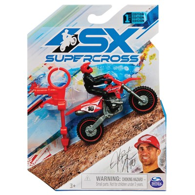 Spin Master's 1:24 Diecast Supercross Bike with Rider (CNW Group/Spin Master)