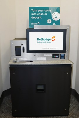 Coinstar's full-service coin counting solution replaces do-it-yourself equipment at 22 Bethpage branch locations.