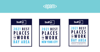 EPAM Named '2021 Best Places to Work' by Built In