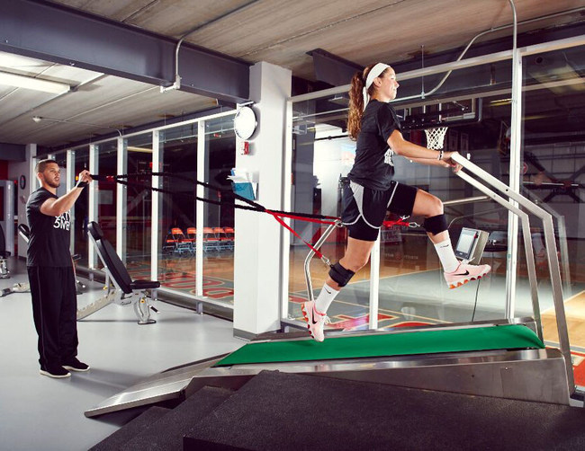 Proprietary equipment like the Super Running Treadmill helps scholastic athletes get a competitive edge.