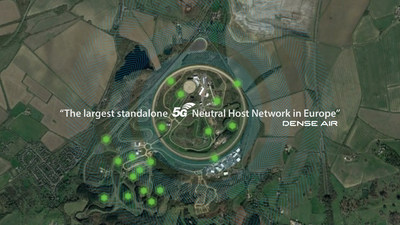 Dense Air and Millbrook Partner on the Sustainability of the 5G AutoAir Network (PRNewsfoto/Dense Air)