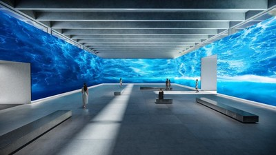 """Sony """"Crystal LED"""" Modular Direct View Display System in a museum setting"""