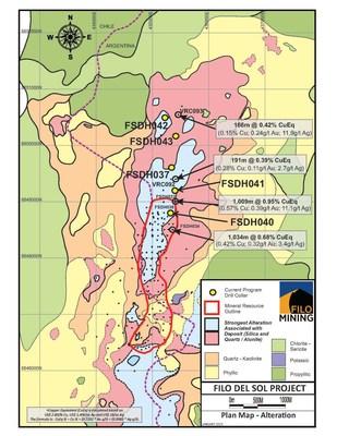Filo del Sol Drill Locations (CNW Group/Filo Mining Corp.)