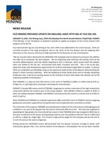 FILO MINING PROVIDES UPDATE ON DRILLING; ADDS FIFTH RIG AT FILO DEL SOL (CNW Group/Filo Mining Corp.)
