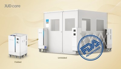JUD care, a leading high-tech enterprise in the field of smart medical and healthcare solutions, has obtained approval from the US Food and Drug Administration (FDA) for the portable ward sRoom, a revolutionary solution for patient isolation that enables hospitals to quickly set up emergency isolation rooms.
