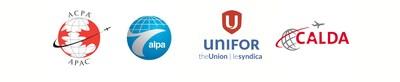 APAC, ALPA, Unifor et CALDA (Groupe CNW/Air Canada Pilots Association)