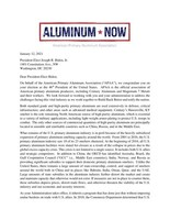 APAA Congratulates President-Elect Biden and Calls for the Preservation of the Section 232 Aluminum Tariffs