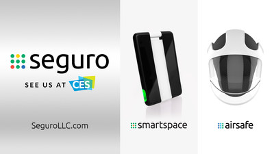 Launching this month: Airsafe, personal air purification face shield, and Smartspace, social distancing device for the workplace