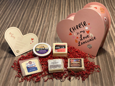 They say money can't buy love, and it can't buy this box either! 500 lucky recipients will receive a keepsake heart shaped box complete five Wisconsin specialty cheeses and a custom cheese-themed greeting.