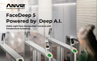 La terminal biométrica de reconocimiento facial de ANVIZ con alertas de mascarillas y temperatura ayuda a generar confianza en el regreso al trabajo y a la escuela de manera segura (PRNewsfoto/Shanghai Anviz Technology Co. Ltd.)