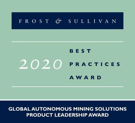 2020 Global Autonomous Mining Solutions Product Leadership Award