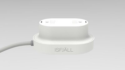 """The new Isfjäll smartsocket edition. """"Isfjäll"""" means iceberg in Norwegian, and symbolises how we by using it reduce our power consumption and contribute to the sustainability of our planet."""