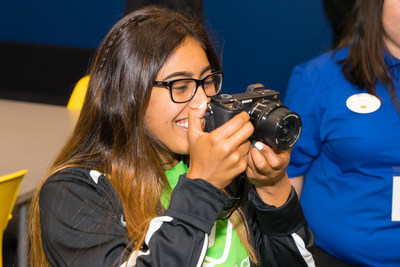 A member enjoys the Best Buy Teen Tech Center Powered by Sony at San Marcos Boys & Girls Club of America