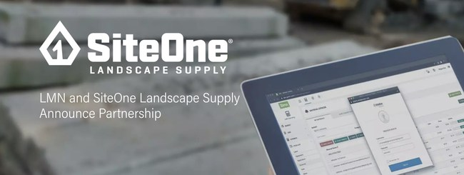 Landscape contractors save time and money through LMN's SaaS landscape management software by loading materials and pricing directly from SiteOne. The new feature is currently available for U.S. users and will be available in Canada in the future.