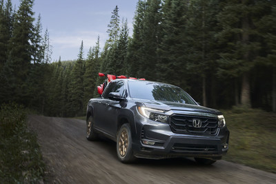 The 2021 Honda Ridgeline begins arriving at Honda dealerships on Feb. 2, with bold new styling underscoring its rugged and versatile pickup truck capabilities. Ridgeline's standard V6 power, fully independent suspension and standard torque-vectoring i-VTM4® all-wheel drive give it the capability to tackle challenging trails and treacherous roads with class-leading ride and handling. Manufacturer's Suggested Retail Prices (MSRP) start at $36,490.
