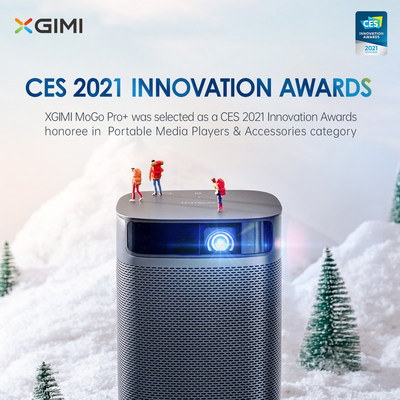 XGIMI MoGo Pro+ was selected as a CES 2021 Innovation Awards honoree in Portable Media Players & Accessories category