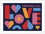 Love 2021 - U.S. Postal Service Issues First Stamp of Year