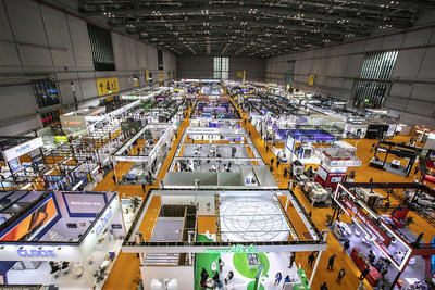 The Intelligent Industry Information Technology Exhibition Area of the CIIE (PRNewsfoto/CIIE)