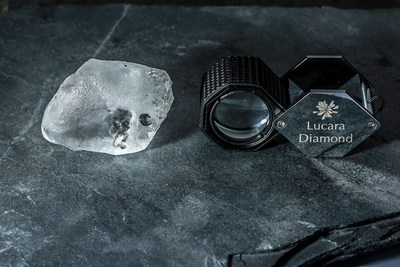 The 341 carat diamond recovered from the Karowe mine (CNW Group/Lucara Diamond Corp.)