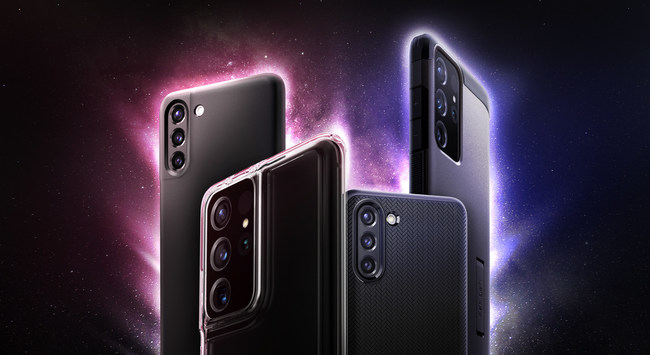 Cases from left to right: Thin Fit, Ultra Hybrid, Neo Hybrid, and Tough Armor