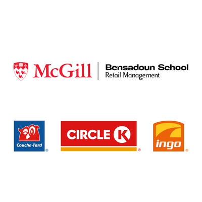 Logos: McGill University's, Bensadoun School of Retail Management, Alimentation Couche-Tard inc., Circle K, Ingo (CNW Group/Alimentation Couche-Tard Inc.)