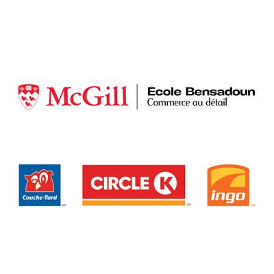Logos: L'Université McGill, École Bensadoun de commerce au détail, Alimentation Couche-Tard inc., Circle K, Ingo (Groupe CNW/Alimentation Couche-Tard inc.)