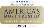For Record-Breaking 9th Consecutive Year, Trilogy® by Shea Homes® Named America's Most Trusted® Active Adult Resort Builder