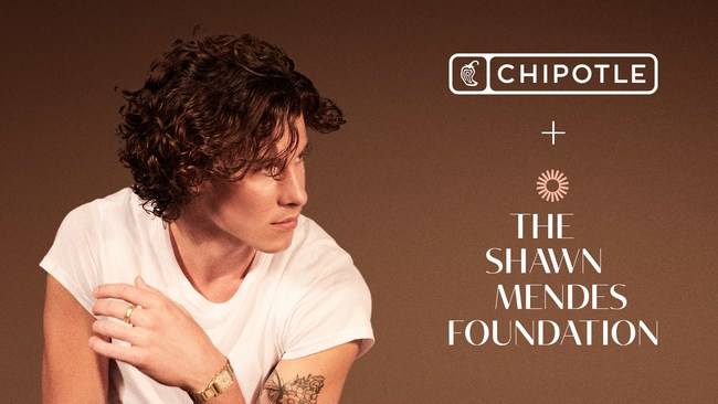 """PR Asset hero – Chipotle partners with Shawn Mendes and the Shawn Mendes Foundation to launch """"Wonder Grants"""" and the Shawn Mendes Bowl"""