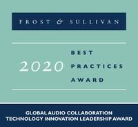 2020 Global Audio Collaboration Technology Innovation Leadership Award (PRNewsfoto/Frost & Sullivan)