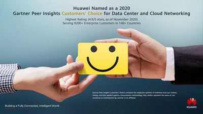 Huawei named a 2020 Gartner Peer Insights Customers' Choice for Data Center and Cloud Networking