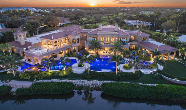 Magnificent 30,000 sq.ft. Celebrity home most exclusive ever listed in Jupiter, Florida. Agent: Rob Thomson, Waterfront Properties