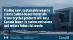 加拿大政府宣布支持清洁技术和可持续材料的创新