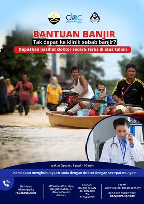 DoctorOnCall Aid Relief For Flood Victims in Pahang with Free Telehealth and Medical Assistance Programme