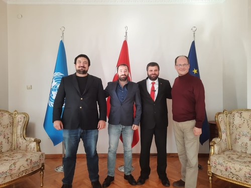 Erdal Can Alkoclar (Co-Chairman), Goksel Gursoy (CFO), Dr. Seyh Samil Omer Arslan (Administrative Board Member), Esen Darlan (Administrative Board Member) (PRNewsfoto/Spektral Investment Bank)