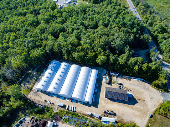 Sweet Dirt's 32,800 sq ft cannabis greenhouse in Eliot, Maine