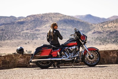 Harley-Davidson offers motorcycle riders more performance, style, technology and freedom for the soul in 2021.Visit www.H-D.com to learn more about how Harley-Davidson is fueling thetimeless pursuit of adventure and freedom for the open road. CVO Street Glide shown.